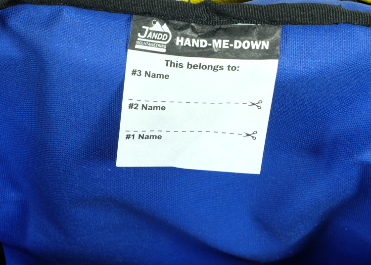 Hand Me Down Label