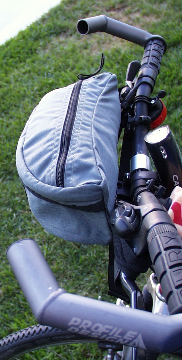 Waist bag as a Handlebar Bag