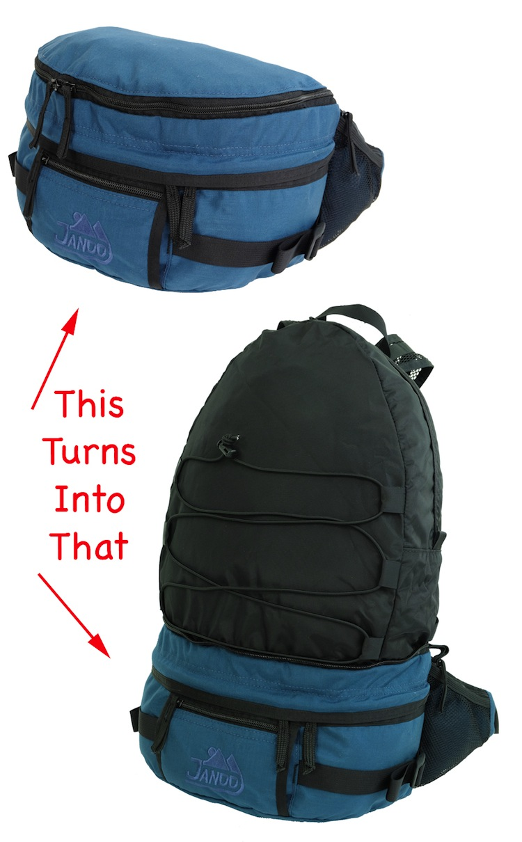 Convertible Fanny to Day pack