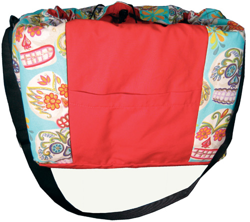Image of Back with Pocket - Bicycle Basket Liner and Tote Bag