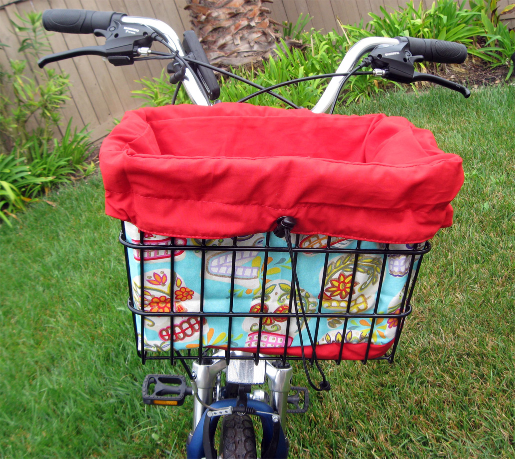 Hi Quality Very Large Image - Bicycle Basket Liner and Tote Bag