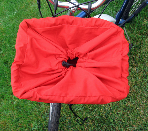 View From the Top with Secondary Closure - Bicycle Basket Liner and Tote Bag