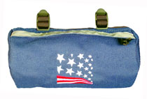 Bike Cruiser Bag - Navy USA Flag