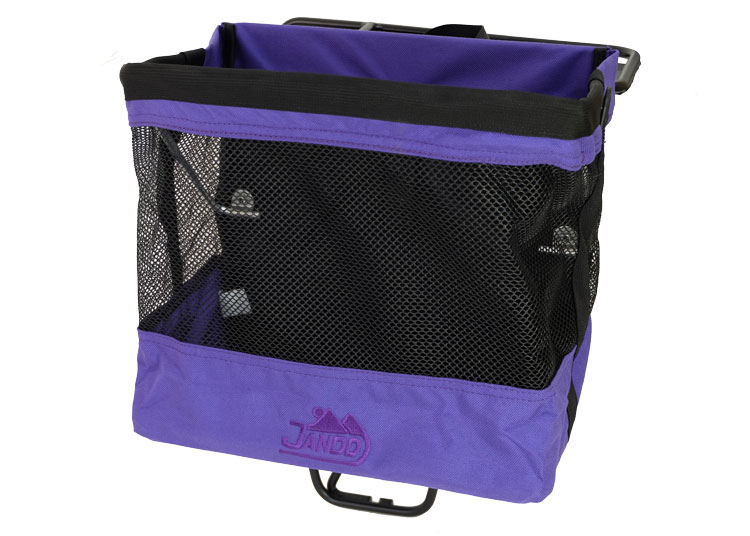 Grocery Bag Pannier Purple