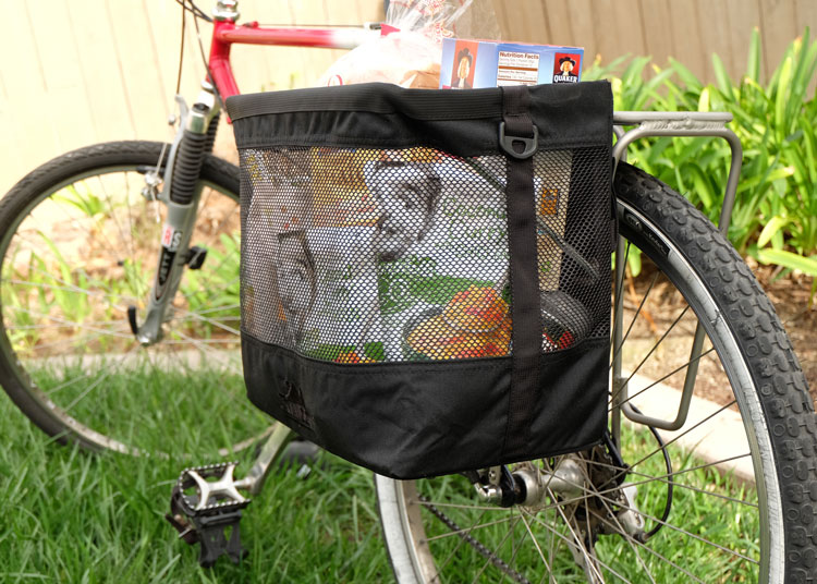 Grocery Bag Pannier Back Side