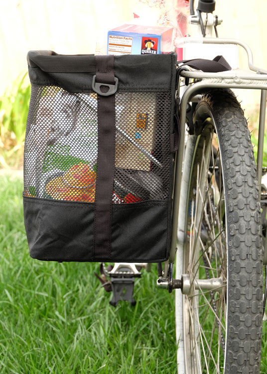 Grocery Bag Pannier Back