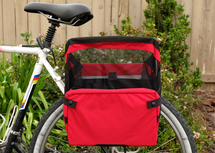 Grocery Bag Pannier Folded