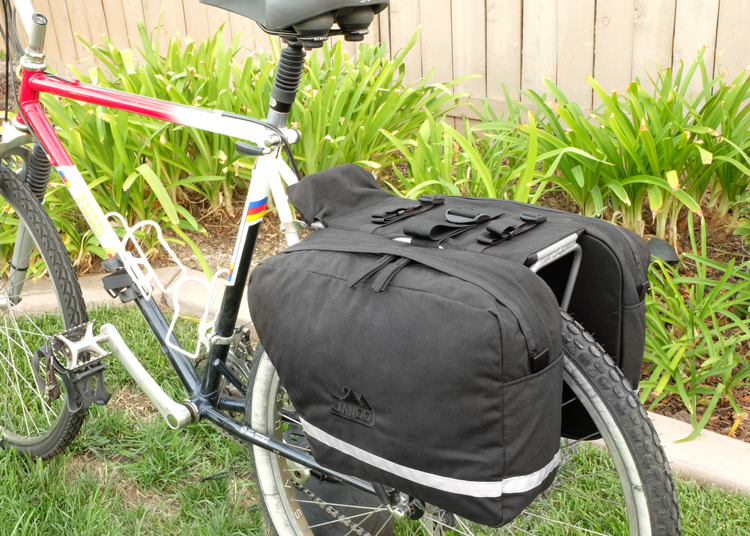 Saddle Bag Panniers Looking Down