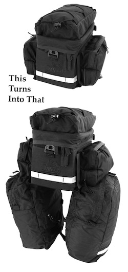 Rear Rack Pack II w/ Panniers