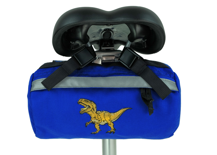 Bike Bag Blue Dino