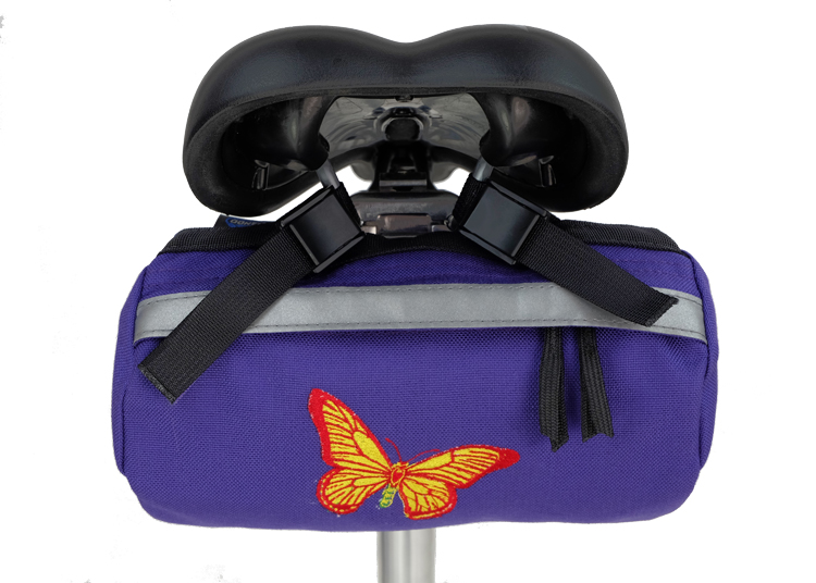 Bike Bag Purple Butterfly