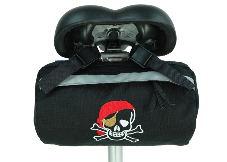 Bike Bag Black Pirate