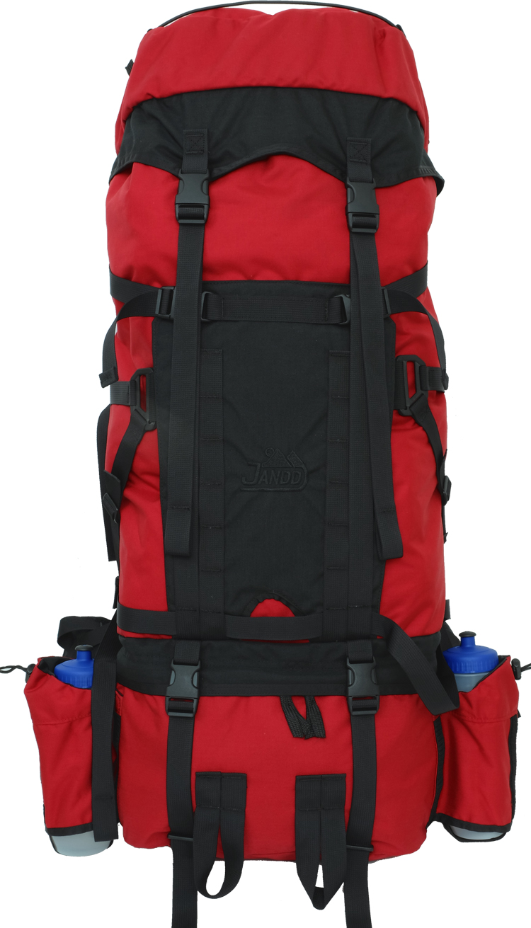 Custom Back Pack Red/Black Front View