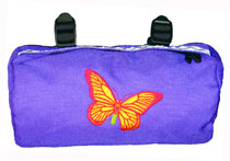 Bike Cruiser Bag - Purple Butterfly
