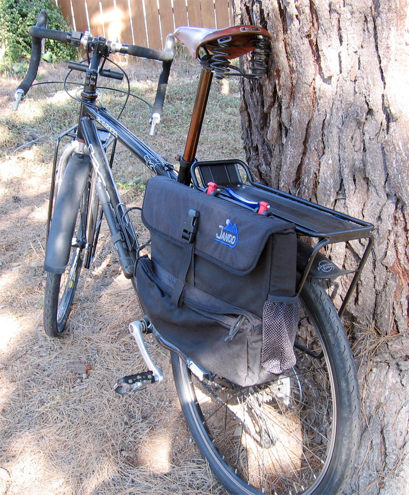 Large View on Bike - Computer Laptop Pannier w/Raincover