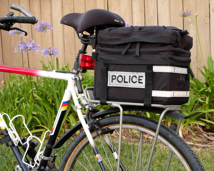 Police Bicycle Trunk Bag Side View