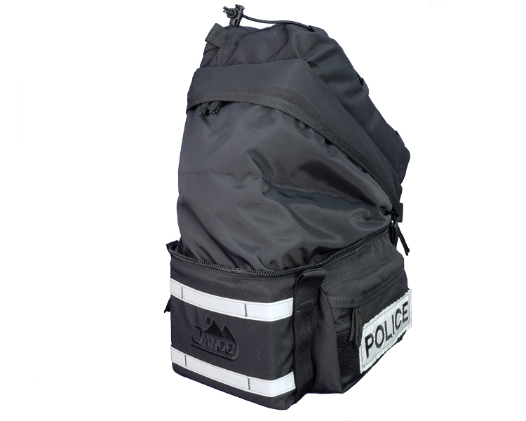 Police Bicycle Rack Bag Expanded