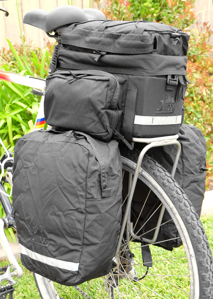 Jandd Rack Pack - Panniers Deployed