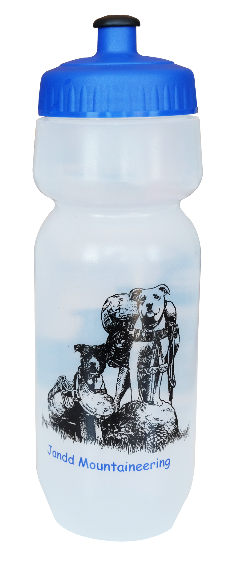 Bike Water Bottle with Dogs Front