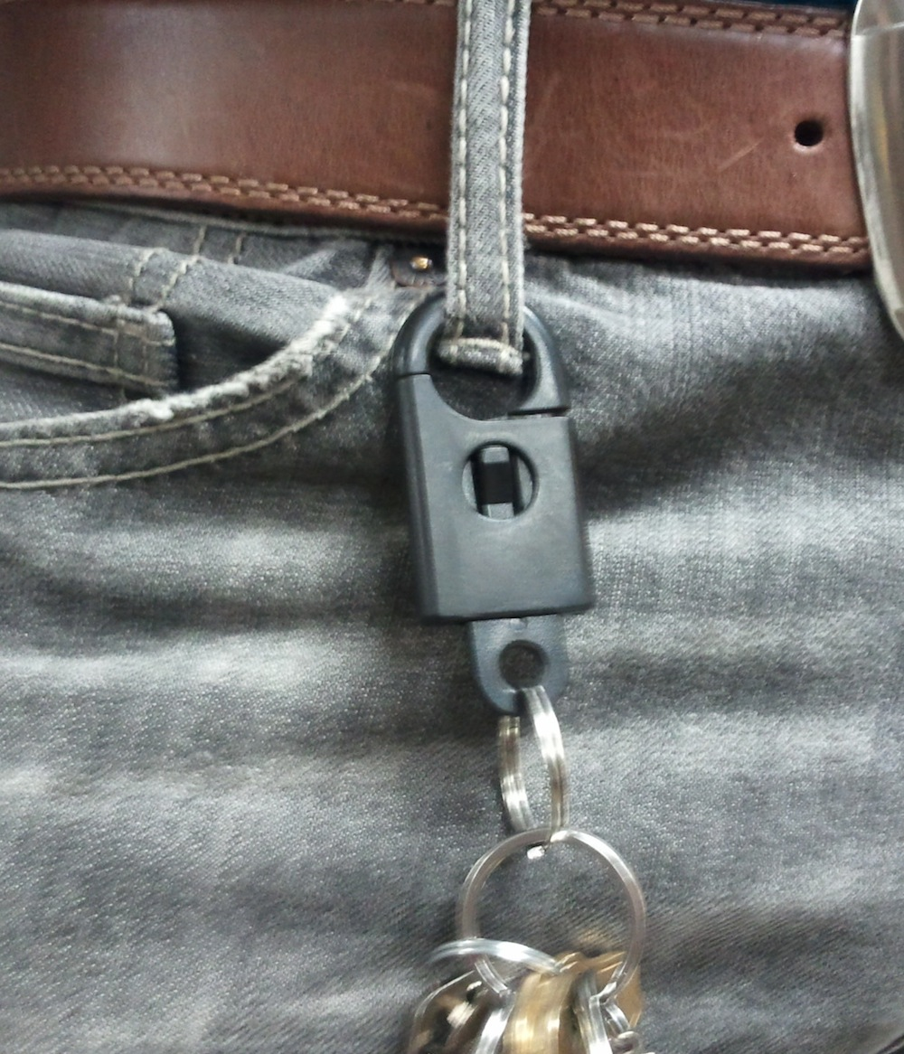 Snap On Key Chain On Belt